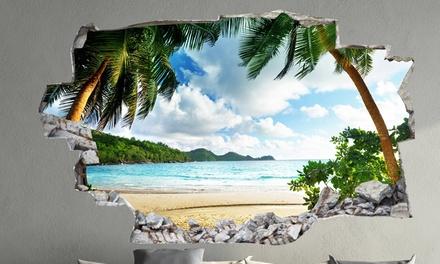 Adesivi da muro 3d in vinile groupon goods for Tavole adesive 3d per pareti