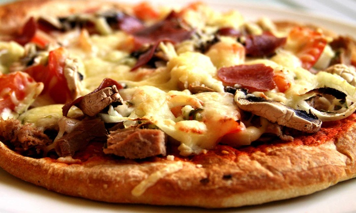 Flip Flops - Midtown: Pizza Slice, Daiquiri, and Cover for Two or Four at Flip Flops (Up to 43% Off)