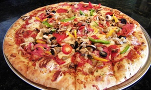 Palio's Pizza Cafe - NEW Grapevine: $20 for a Large Specialty Pizza with Cheesy Bread and Soft Drinks at Palio's Pizza Café ($26.76 Value)
