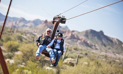 image for $18 for Experience for Two at Superstition Zipline ($24 Value)