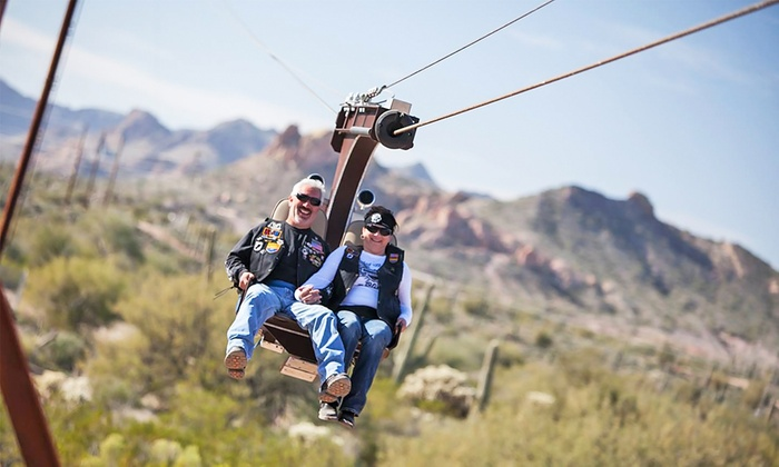Superstition Zipline - North Pinal: $17 for a ZIplining Experience for Two at Superstition Zipline ($24 Value)