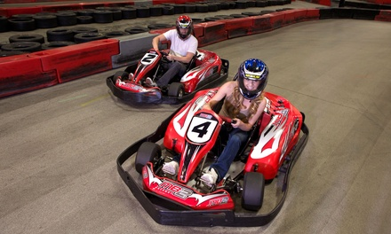 One or Three Junior or Adult Go-Kart Races, or VIP Track Pass with Race Discounts at MB2 Raceway (Up to 54% Off)