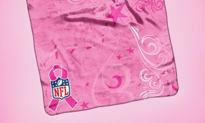 NFL Breast Cancer Awareness Throw Blanket: NFL Breast Cancer Awareness Throw Blanket. Free Returns.