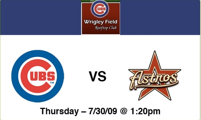 Wrigley Field Rooftop Club  - Lakeview: $125 Rooftop Tickets—Cubs vs Astros, 7/30, 1:20 p.m.