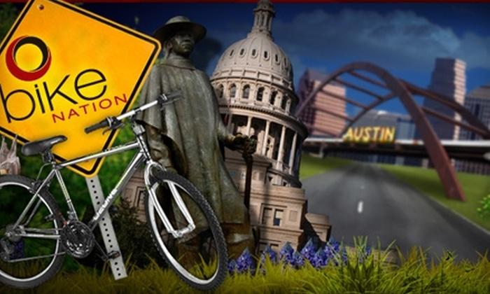 Bike Nation - Austin: $17 for a Bike Rental from Bike Nation