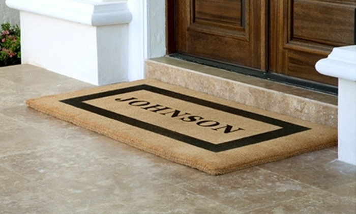 The Personalized Doormats Company: $25 for $50 Worth of Custom Products from The Personalized Doormats Company