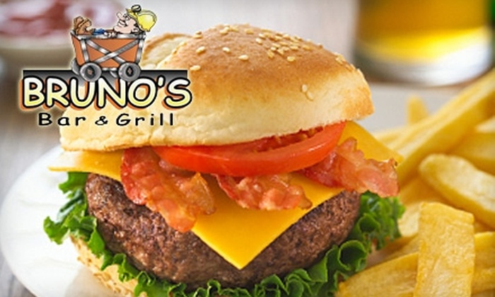 Bruno's Bar and Grill - Copper Cliff: $10 for $20 Worth of Lunch Fare or $25 Worth of Dinner Fare at Bruno's Bar and Grill