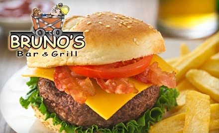 $20 Groupon to Bruno's Bar and Grill for Lunch Fare or $25 Groupon for Dinner Fare after 4PM - Bruno's Bar and Grill in Copper Cliff