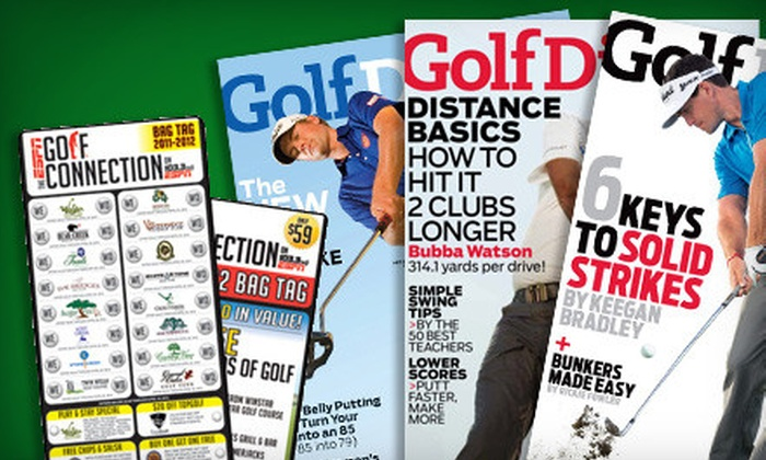 """The ESPN Golf Connection on 103.3FM: $39 for a Golf Package with 4 ESPN Bag Tags and Subscription to """"Golf Digest"""" from The ESPN Golf Connection on 103.3FM ($99 Value)"""