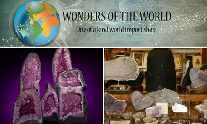 Wonders of the World - Riverside: $7 Gemstone Folklore Class, Plus 20% Discount on Stones, at Wonders of the World ($15 Value)
