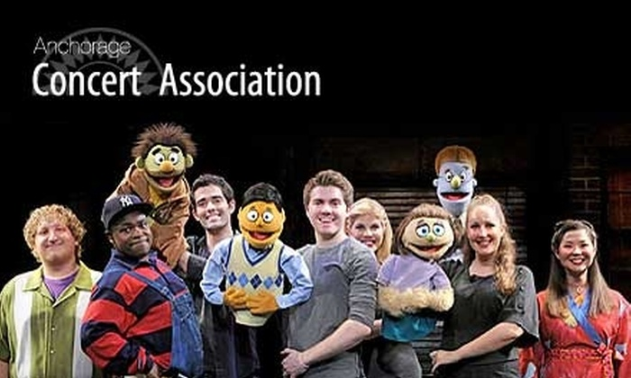 "Anchorage Concert Association - Multiple Locations: $36 for One A-Tier Seating Ticket to ""Avenue Q"" Presented by the Anchorage Concert Association. Choose Between Two Dates."