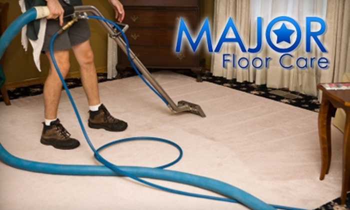 Major Floor Care - Orlando: $45 for Two Rooms of Premier Carpet Cleaning from Major Floor Care