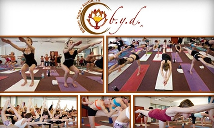 BYD Bikram Yoga - Multiple Locations: $25 for One Week of Unlimited Bikram Yoga Classes or a Three-Class Pass from BYD Austin