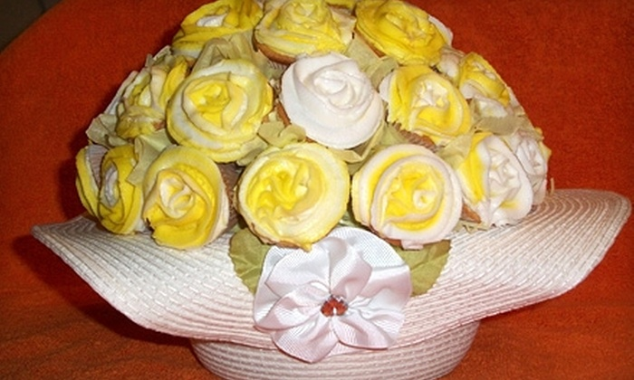 Dinner's on Me - Caledonia: $25 for One Medium or Two Small Cupcake Bouquets from Dinner's on Me ($50 Value)