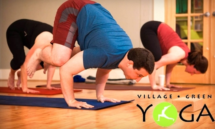 Village Green Yoga and Eco-Boutique - Gilman: $20 for Three Classes at Village Green Yoga and Eco-Boutique in Issaquah (Up to $54 Value)