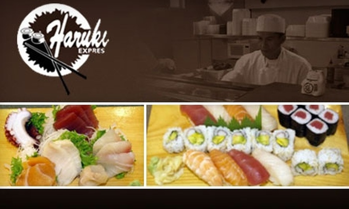 Haruki Express - College Hill: $7 for $15 Worth of Sushi and Drinks at Haruki Express