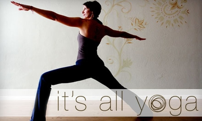 It's All Yoga - Southeastern Sacramento: $42 for One Month of Unlimited Yoga Classes at It's All Yoga