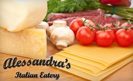 Alessandra's Italian Eatery: $15 Groupon toward Lunch Menu - Alessandra's Italian Eatery in Summerville