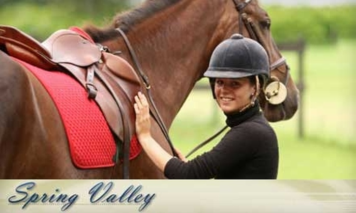 Spring Valley Stables - Montgomery: $20 for a One-Hour Horseback Riding Lesson From Spring Valley ($45 Value)
