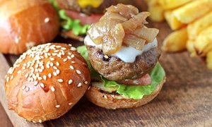 The Lodge Sports Grille: American Grill Food at The Lodge Sports Grille (Up to 43% Off). Two Options Available.