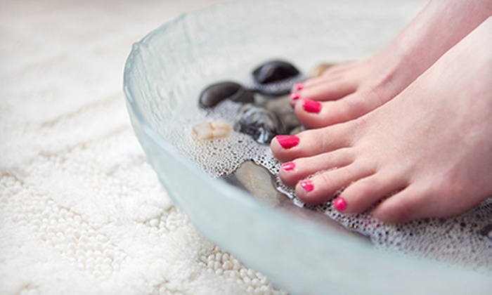 Glow Salon & MedSpa - Oakville: Classic Mani-Pedi, or Shellac or Spa Manicure with Signature Pedicure at Glow Salon & MedSpa (Up to 60% Off)