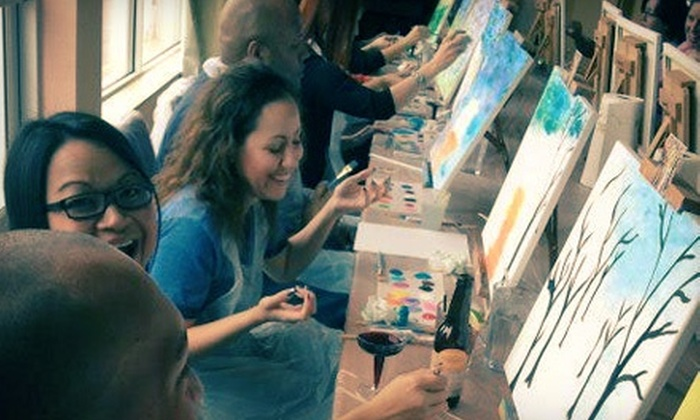 Art By The Glazz - Atlanta: Art Event with Two Complimentary Mimosas or Glasses of Wine from Art By the Glazz (Up to 80% Off). 9 Options Available.