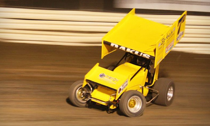 Nite Thunder: Dirt Oval Excitement - Edmonton: $10 for Nite Thunder: Dirt Oval Excitement Racing Event for Two at Castrol Raceway in Nisku on June 2 (Up to $40 Value)