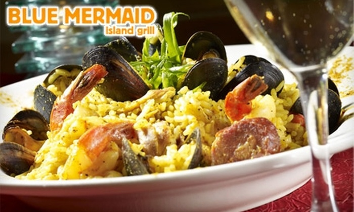 Blue Mermaid Island Grill - Portsmouth: $25 for $50 Worth of Caribbean Fare at Blue Mermaid Island Grill in Portsmouth