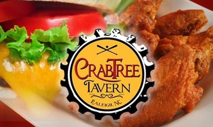 Crabtree Tavern - Northwest Raleigh: $10 for $21 Worth of Pub Grub at Crabtree Tavern