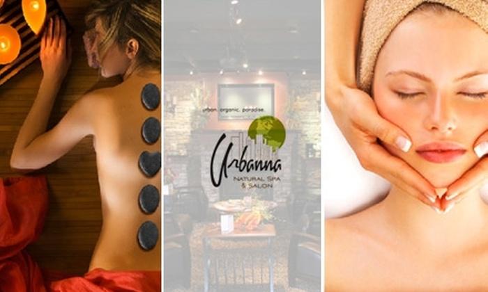 Urbanna Natural Spa & Salon - Riverside: $45 for $90 Worth of Massage or Facial Services at Urbanna Natural Spa & Salon