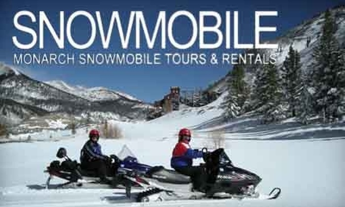Monarch Snowmobile Tours and Rentals - Salida: $60 for a Half-Day Snowmobile Tour for One at Monarch Snowmobile Tours and Rentals ($120 Value)