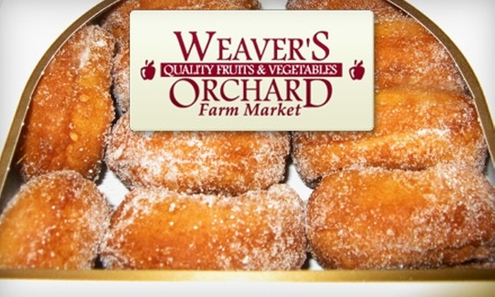 Weaver's Orchard Farm Market - Robeson: $5 for Your Choice of an Apple Pie, Pumpkin Pie, or Two Dozen Apple Cider Donuts from Weaver's Orchard Farm Market (Up to an $11 Value)