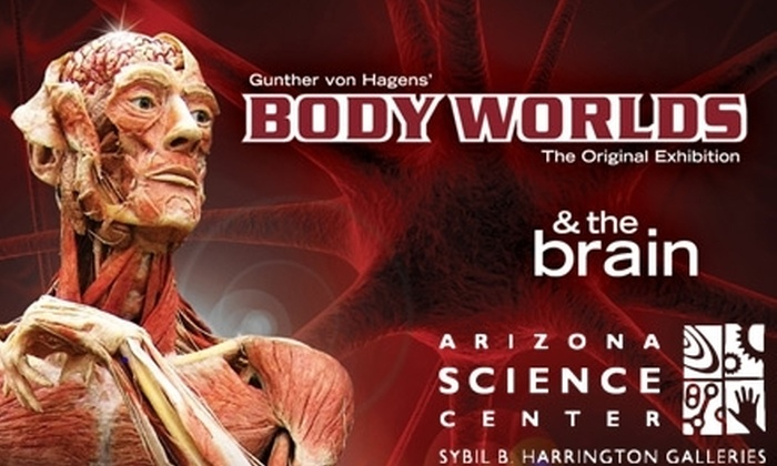 "Arizona Science Center - Downtown Phoenix: $25 for Two Admissions to ""Body Worlds & The Brain"" Exhibit at Arizona Science Center (Up to $50 Value)"