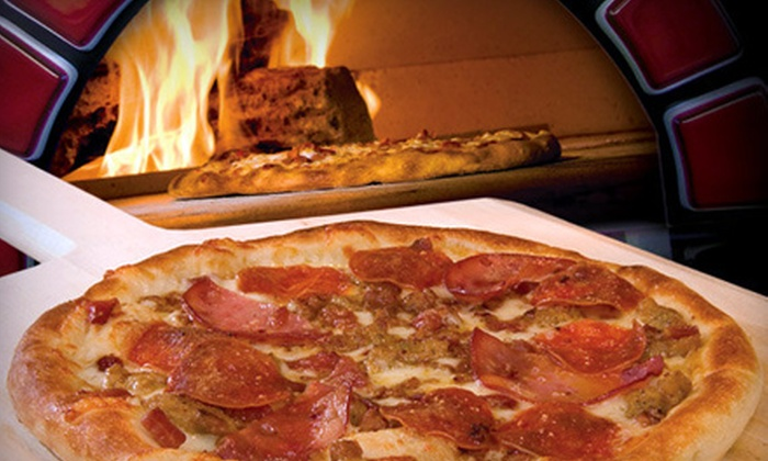 Red Brick Pizza - Crossroads Towne Center: Dinner for Two or Four at Red Brick Pizza in Gilbert. Four Options Available.