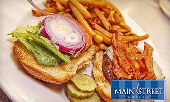 Main Street Bar & Grill - Weymouth: $20 for $40 Worth of Upscale Tavern Fare at Main Street Bar & Grill in Weymouth