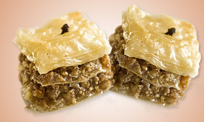Yiayia Maria's Kitchen: 1-Pound Box of Gourmet Baklava or a Greek Dessert Sampler from Yiayia Maria's Kitchen with Shipping Included (Up to 56% Off)