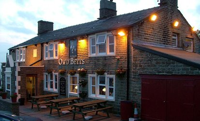 image for Two- or Three-Course British Meal for Two at Owd Betts Country Inn (Up to 47% Off)