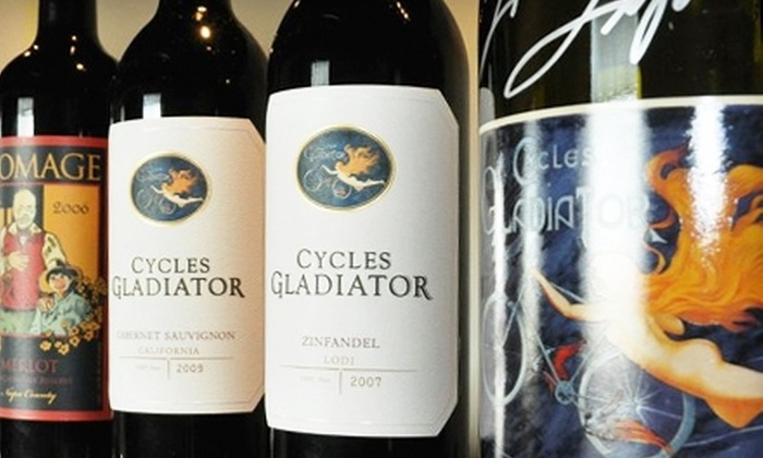 Cycles Gladiator - Lodi: $20 for Wine Tasting for One at Cycles Gladiator in Lodi ($50 Value)