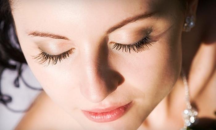 Christina Studios - Clayton: Full Set of Silk Eyelash Extensions Or Extensions with Refill at Christina Studios (51% Off)