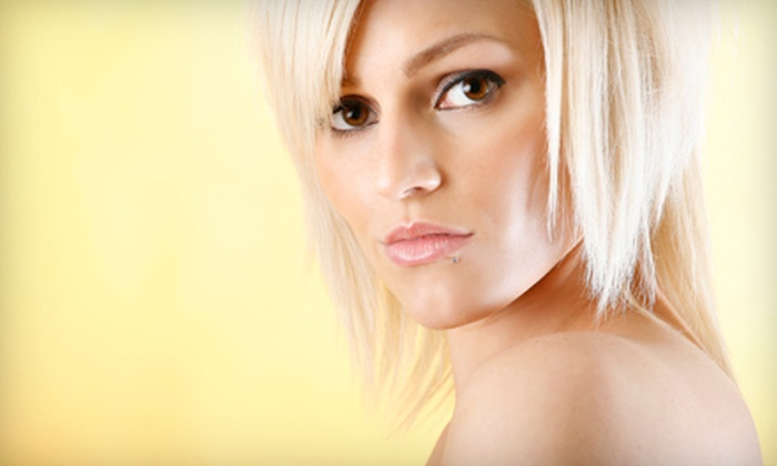 Ahead of the Curve Salon & Spa - Multiple Locations: Women's Cut-and-Style Package with All-Over Color or Cut and Style at Ahead of the Curve Salon & Spa (Up to 57% Off)