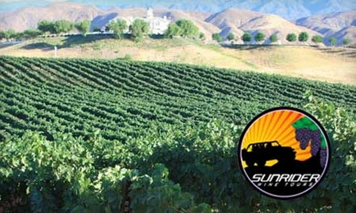 Sunrider Wine Tours - Old Town Temecula: $69 for a Winery Tour, Tasting, Lunch, and More with Sunrider Wine Tours (Up to $125 Value)