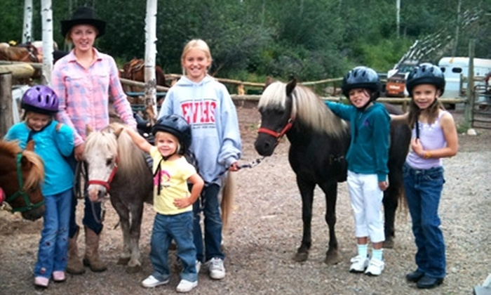 Vail Stables - Beaver Creek Village: $35 for Admission to Half-Day Pony Camp for Kids ($75 Value) or $75 for Admission to Full-Day Horse Camp for Kids ($150 Value) at Vail Stables