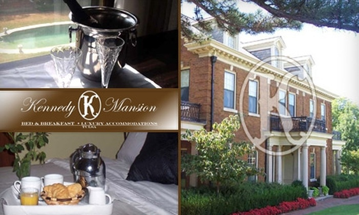 Kennedy Mansion Bed and Breakfast - Gilcrease Hills: $85 for a Romantic One-Night Stay at the Kennedy Mansion Bed and Breakfast with Champagne, Strawberries, and Chocolate