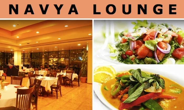 Navya Lounge  - Central Business District: $15 for Indian Cuisine at Navya Lounge