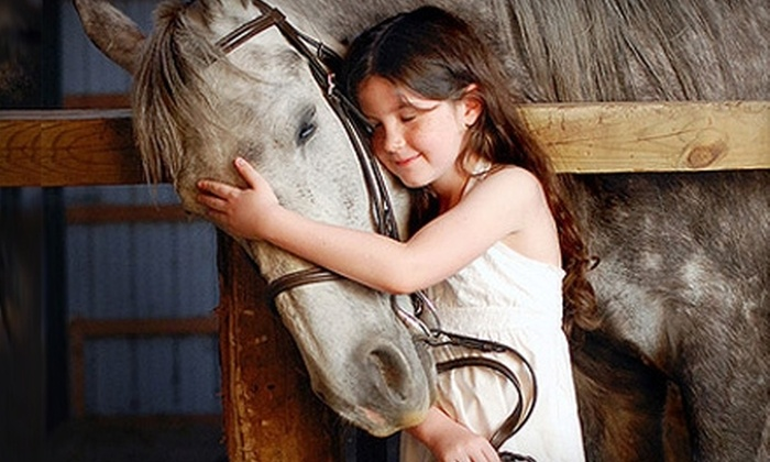 Outback Stables - Ledyard: Horseback-Riding Lessons or Weeklong Horseback-Riding Camp at Outback Stables in Ledyard
