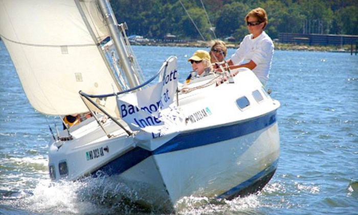Chesapeake Sailing School - Baltimore: Intro to Sailing Lesson for One or Two from Chesapeake Sailing School in Annapolis (Up to 52% Off)
