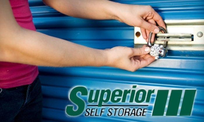 Superior Self Storage - Multiple Locations: $30 for $90 Worth of Storage Space and Goods at Superior Self Storage