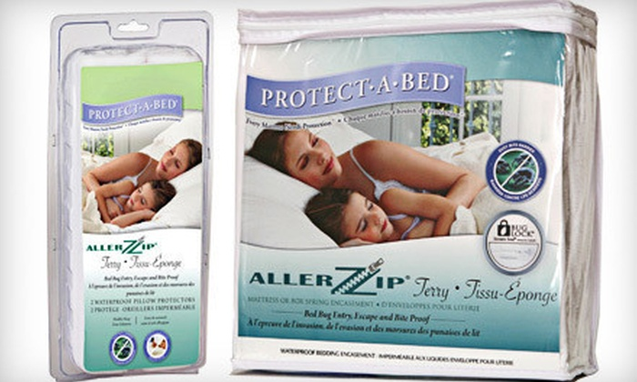 Protect-A-Bed Allerzip Terry Mattress Encasement - Downtown Toronto: Twin-, Twin XL-, Double-, Queen-, or King-Size Mattress Encasement from Dreams Bed Bath Home Décor (Up to 64% Off)