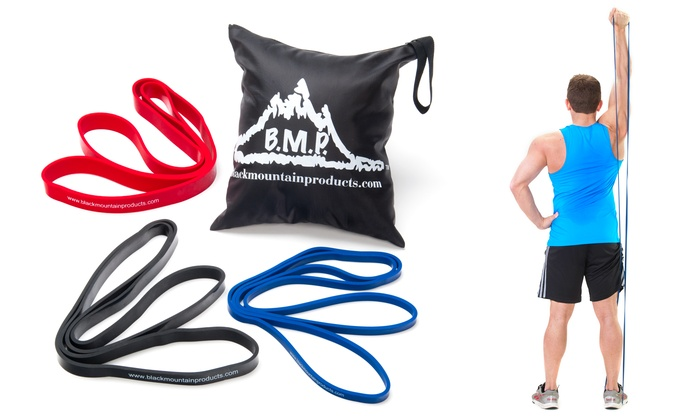 Black Mountain Strength Loop Resistance Band or Set of 3