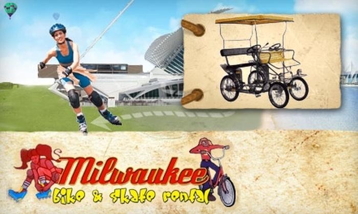 Milwaukee Bike & Skate Rental - Lower East Side: $12 for a One-Hour Small Surrey Bike Rental from Milwaukee Bike & Skate Rental ($24 Value)